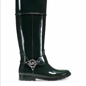 Michael Kors Fulton rain boots harness black/brown